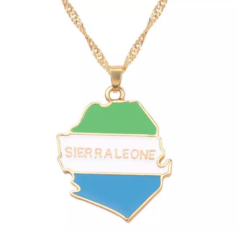 Sierra Leone Flag Necklace