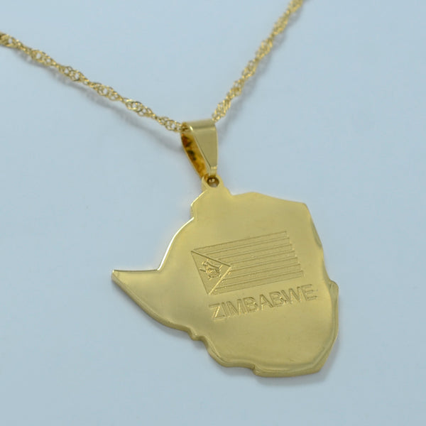 Golden Zimbabwe Necklace