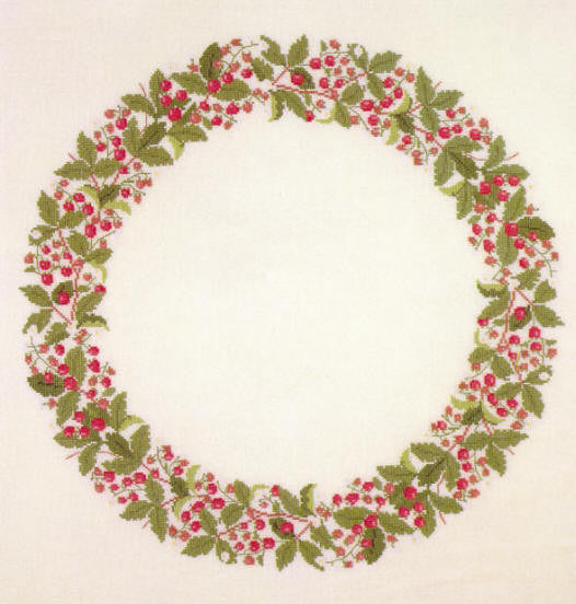 Garland of Strawberries, linen included