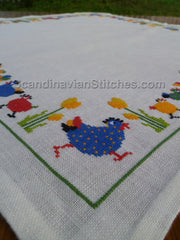 Spring Hens Tablecloth