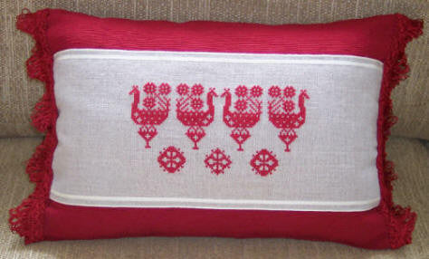 Red Rooster Pillow