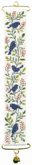 Blue Birds Mini Bell Pull