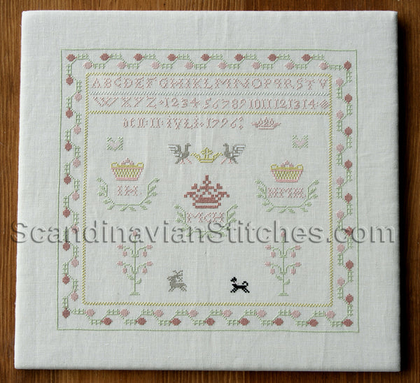 Swedish 1796 Sampler Reproduction Kit