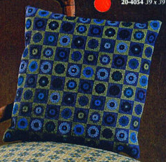 Flowers in Squares Pillow