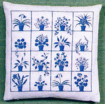 Flower Pots Pillow