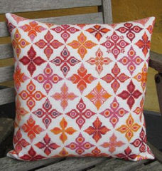 Fleur Red Orange Pillow