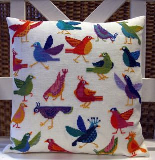 Funny Birds Pillow