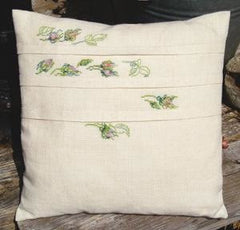 Pillow with Roses and Pleats