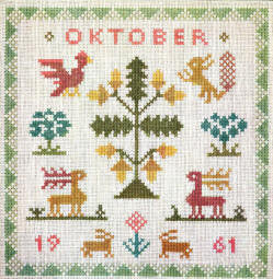 Birthday Sampler, October