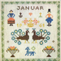 Birthday Sampler, January