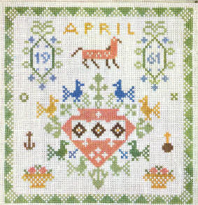 Birthday Sampler, April