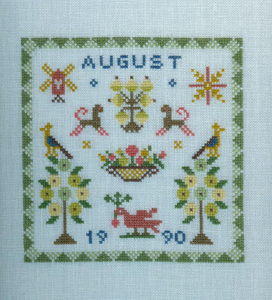Birthday Sampler, August