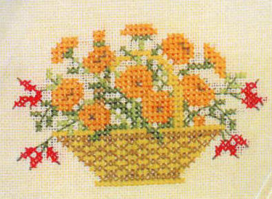 Marigolds in a Basket