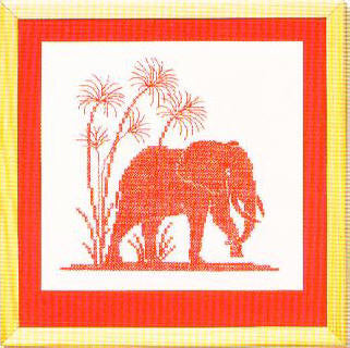 Elephant and Papyrus
