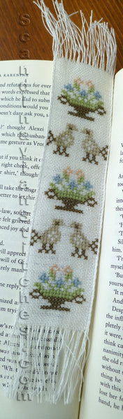 Birds with Flowers Bookmark