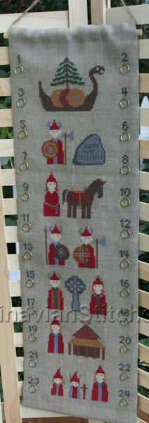 Viking Advent Calendar - Cross Stitch Kit