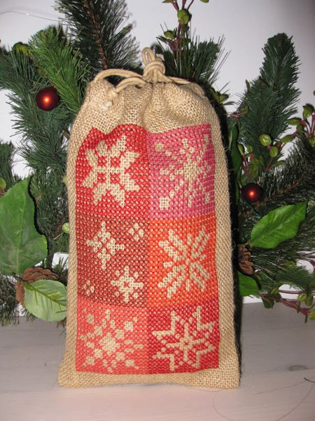 Red Snowflake Christmas Bag Kit