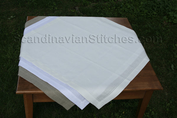 Double Hem Stitched Large Table Square