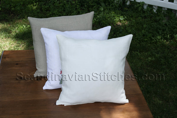 Double Hem Stitched Pillow Cover