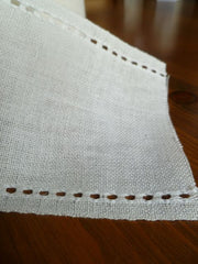 Ecru Banding with Pulled Thread Edges