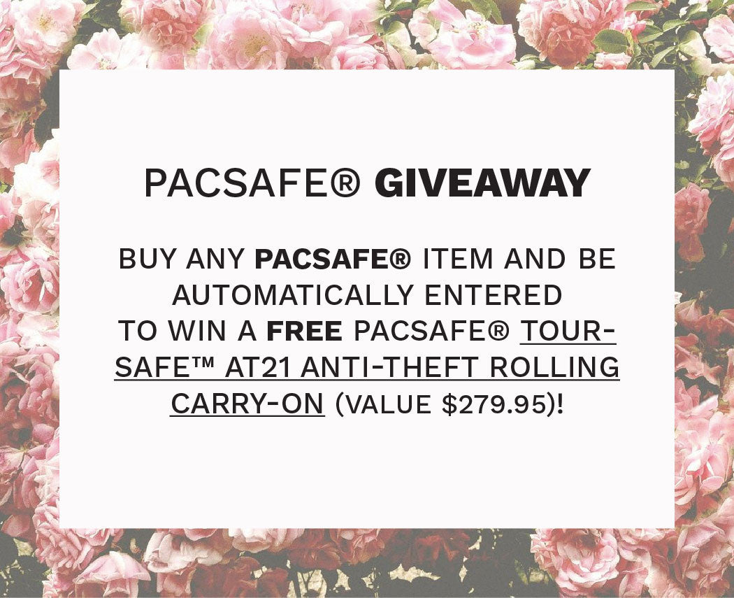 Win A PacSafe® Toursafe™ AT21 Anti-theft rolling carry-on Contest Rules & Regulations