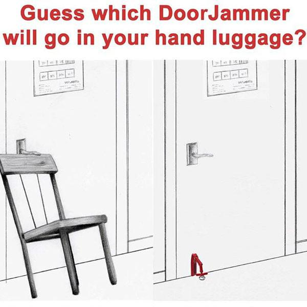 DoorJammer - Portable Security Device - Jet-Setter.ca