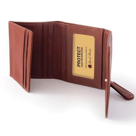 Leather RFID Blocking Mini Wallet