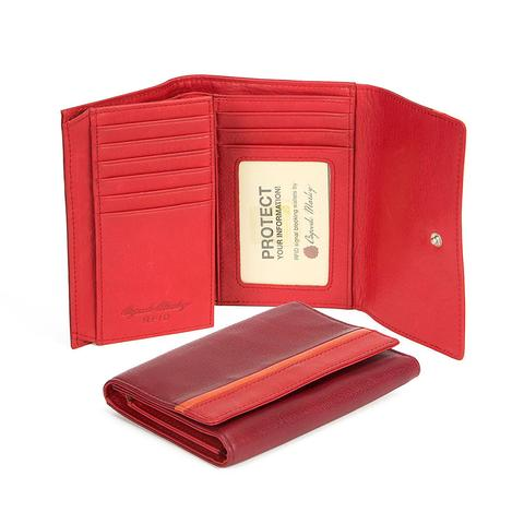 "Osgoode Leather 5"" Flap RFID Blocking Wallet"