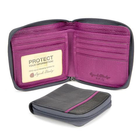 Osgoode Leathe RFID Square Wallet