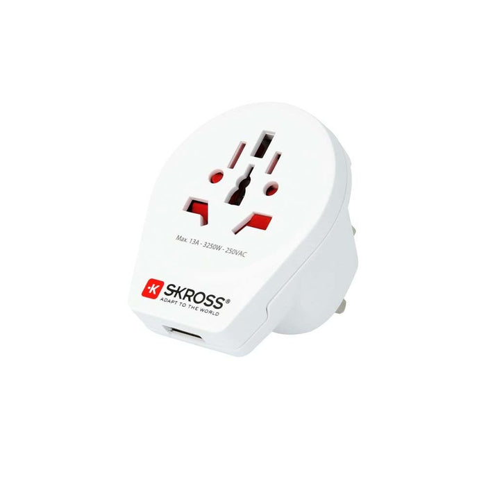 Skross Country Adapter World to UK USB Travel Charger