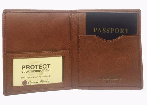 Osgoode RFID Leather Passport Case Cover