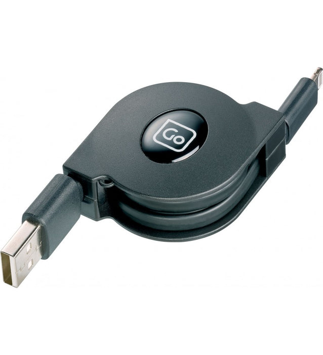 Retractable USB-Lightning Charge & Sync Cable