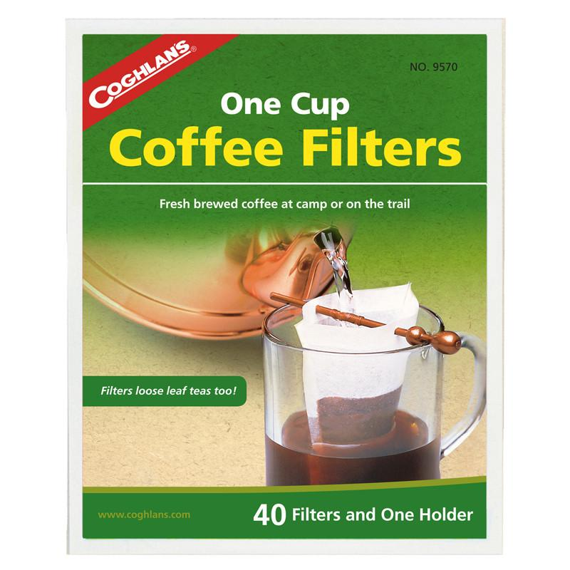Coghlans One Cup Coffee Filters (40 Pack) - Jet-Setter.ca