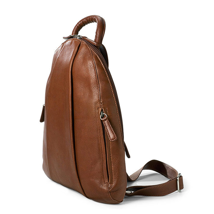 Osgoode Marley Leather Teardrop Multi Zip Backpack