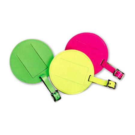 Large Leather Neon ID Tag - Jet-Setter.ca