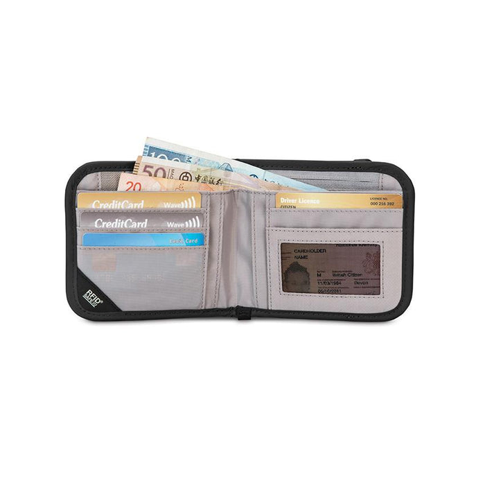 Pacsafe® RFIDsafe™ V100 Anti-theft RFID blocking bi-fold wallet - Jet-Setter.ca