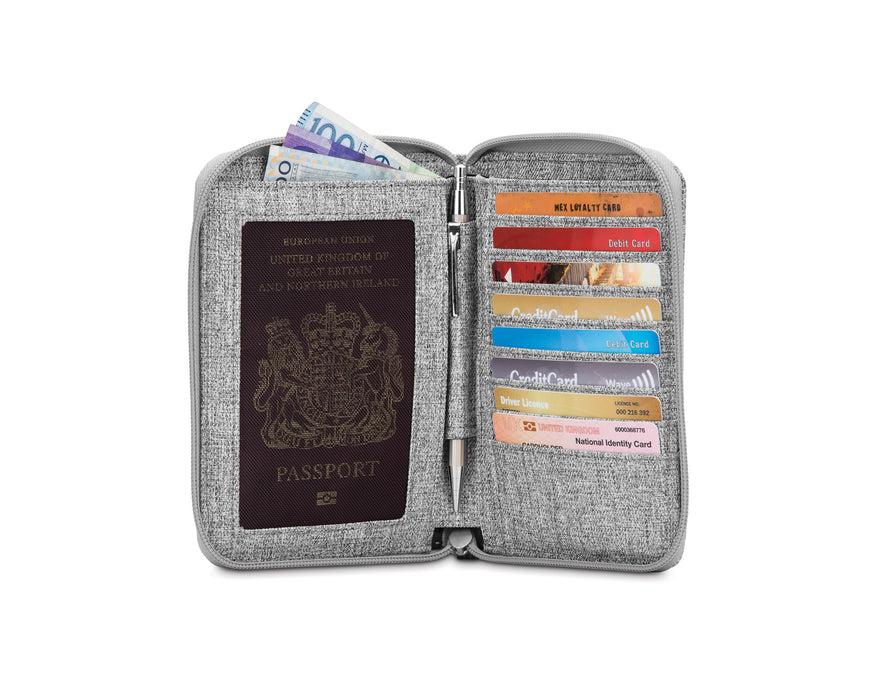 Pacsafe RFIDsafe™ LX150 RFID Blocking Zippered Passport Wallet