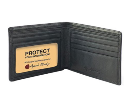 Leather Thin-Fold RFID Blocking Wallet