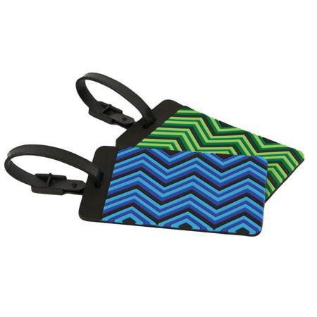 Set of 2 Luggage Tags, Zig Zag - Jet-Setter.ca