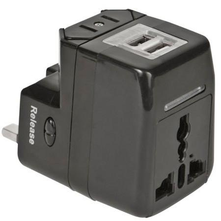 Worldwide Adapter and Dual USB Charger