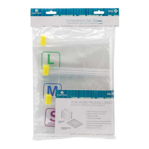 Pack-It Compression Sacs Pack - 1sml, 1med, 1 lge - Jet-Setter.ca