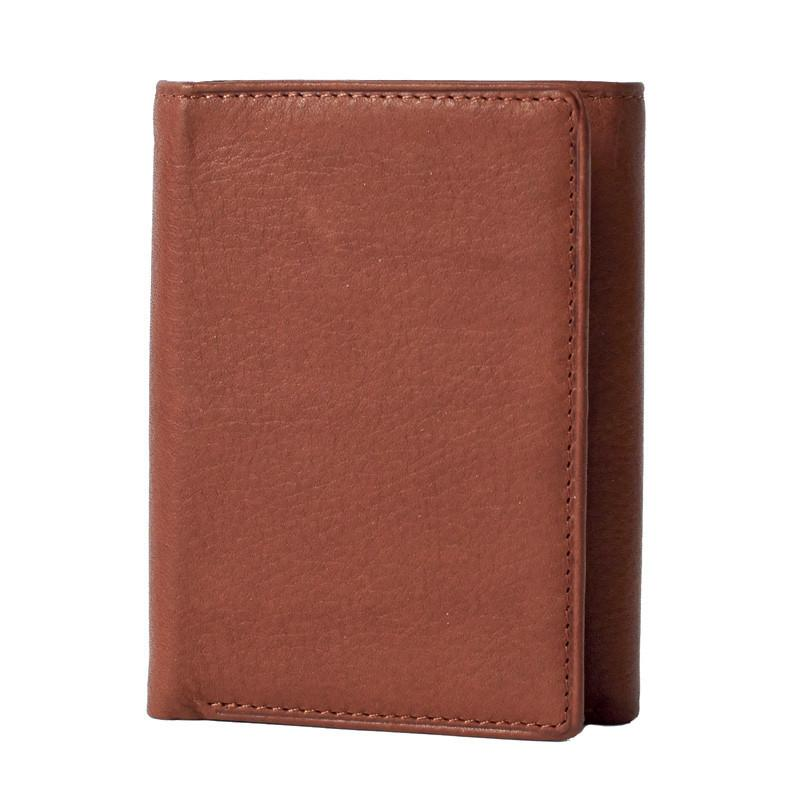 Leather Tri-Fold RFID Blocking Wallet