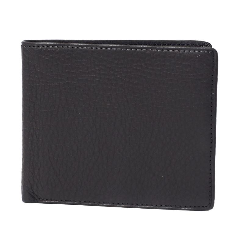 Leather Bi-Fold Flipper RFID Blocking Wallet