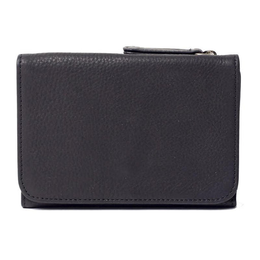 Women's Leather RFID Blocking Tri-Fold Snap Wallet - Jet-Setter.ca