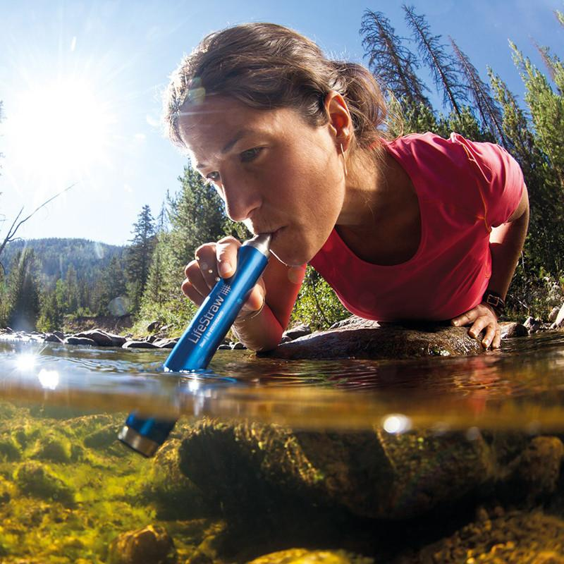 LifeStraw - Stainless Steel Personal Water Filter - River Drink