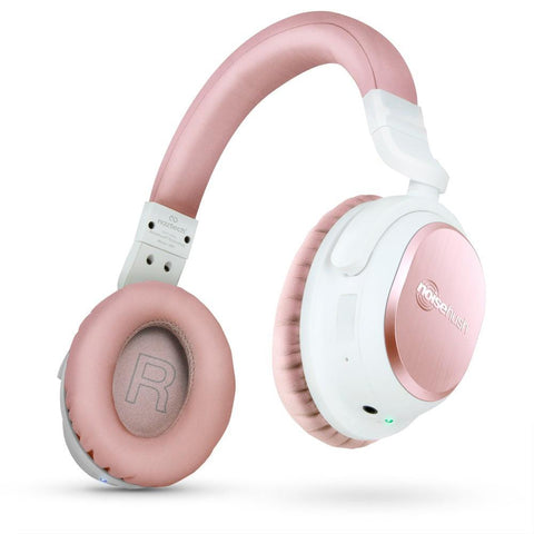 Naztech i9 Bluetooth® Wireless Active Noise Cancelling Headphones Rose Gold