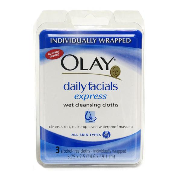 Olay Wet Cleansing Cloths - 3 Pack