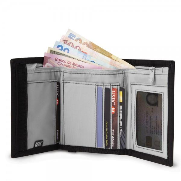 Pacsafe RFIDsafe™ Z50 RFID blocking tri-fold wallet - Open