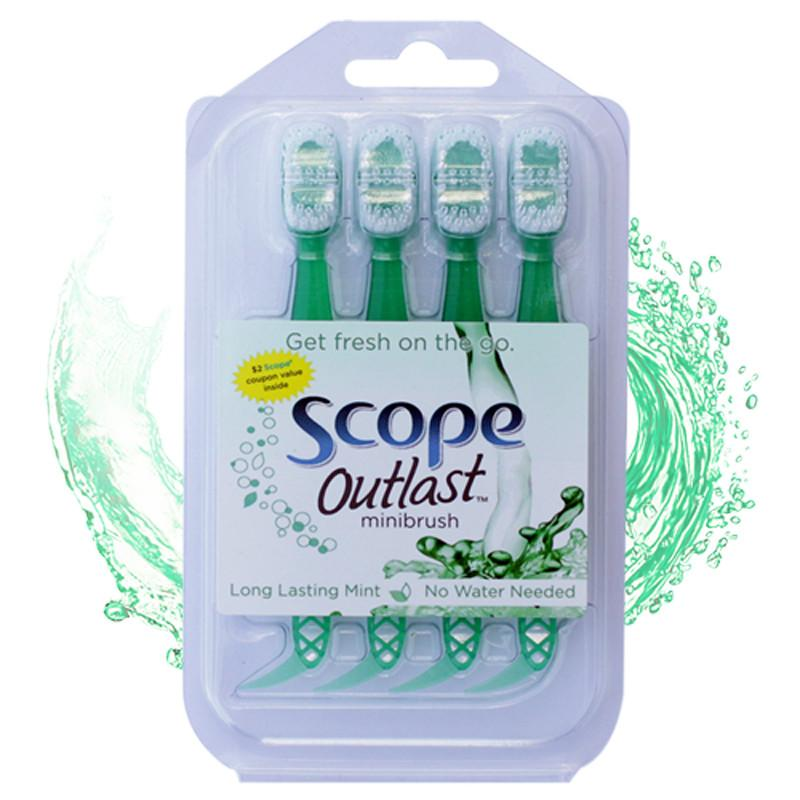 Scope® Outlast Mini Toothbrush - 4 Pack - Jet-Setter.ca