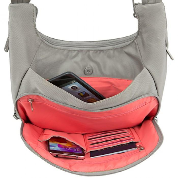 Travelon Anti-Theft Classic Pleated Hobo - Jet-Setter.ca